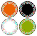 Heart colorful circle frame vector can be used for border and background Royalty Free Stock Photo
