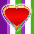 Heart colorful ilustration of beautiful Stock Images