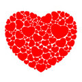 Heart composed of small hearts Royalty Free Stock Photography