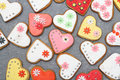 Heart Cookies Stock Images