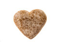 Heart cookies isolated white background Royalty Free Stock Photo