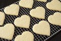 Heart Cookies and Tea Royalty Free Stock Photos