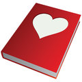 Heart on the cover of book vector illustration Stock Photo