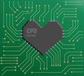 Heart CPU Stock Image