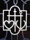 Heart, cross and anchor Royalty Free Stock Photo