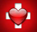 Heart and cross medical design with Royalty Free Stock Photos