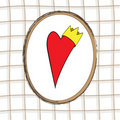 The Heart with crown Stock Images