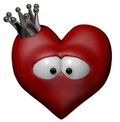 Heart with crown Royalty Free Stock Photography