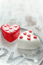 Heart cup cake Royalty Free Stock Photo