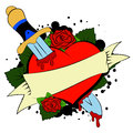Heart and Dagger Royalty Free Stock Photo