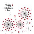 Heart dandelion flower, love valentines day festival