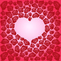 Heart Of Dark Red Roses On A P...