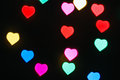 Heart defocused colorful light beautiful background Royalty Free Stock Image