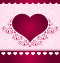 Heart Design on light pink background Stock Images