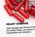 Heart disease concept Stock Images