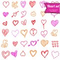 Heart doodle set this is file of eps format Stock Images