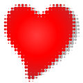 Heart dot gain an illustration of a with dots Royalty Free Stock Photography