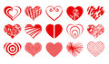 Heart Drawings Vector Valentine Icon Set02