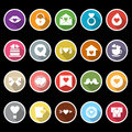 Heart element icons with long shadow stock Stock Image