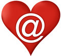 Heart Email Royalty Free Stock Image