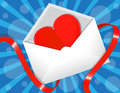 Heart in the envelope Royalty Free Stock Photography