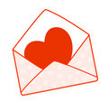 Heart an envelope Stock Photography