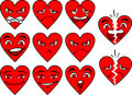 Heart Expressions Stock Photography