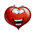 Heart faces happy emoticons wanderful cartoon illustration of a face emoticon amazed Royalty Free Stock Image