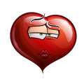Heart faces smooch cartoon illustration of a face emoticon sending a kiss Royalty Free Stock Photography