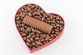 Heart filled with chocolate Royalty Free Stock Photo