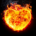 Heart in fire Royalty Free Stock Photography