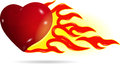Heart on fire Royalty Free Stock Photo