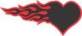 Heart on Fire illustration Vector design Royalty Free Stock Photo
