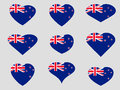 Heart with the flag of New Zealand. I love New Zealand. New Zealand flag icon set. Royalty Free Stock Photo