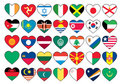 Heart flags set Royalty Free Stock Photos