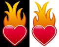 Heart with Flames Royalty Free Stock Photo