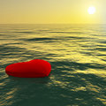 Heart Floating Away Showing Loss Of Love Royalty Free Stock Photo
