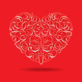 Heart with floral design Royalty Free Stock Photo