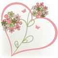 Heart and flower Royalty Free Stock Image