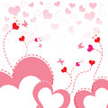 Heart flower background Stock Photo