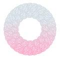 Heart flower bush pattern circle shape design pink purple