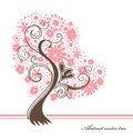 Heart flowering abstract vector tree Stock Image