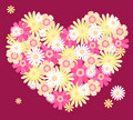 Heart from flowers. Royalty Free Stock Image