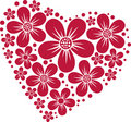 Heart from flowers Royalty Free Stock Photography