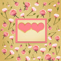 Heart and flowers - scrapbook background Royalty Free Stock Photo