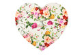 Heart with flowers on a white background Stock Photo
