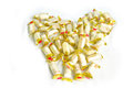 Heart form from chinese candy covered with white background Royalty Free Stock Photography