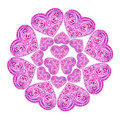 Heart in the form of an lace doily Royalty Free Stock Photo