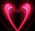 Heart fractal background Royalty Free Stock Photo