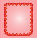 Heart frame with isolated background Royalty Free Stock Photography